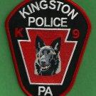 Kingston Pennsylvania Police K-9 Unit Patch