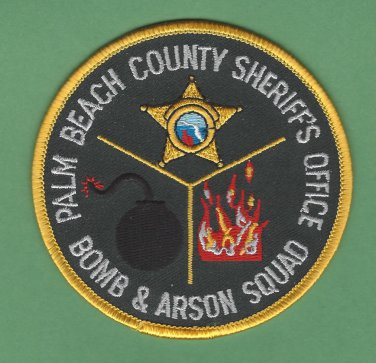 Palm Beach County Sheriff Florida Police Bomb Squad Patch