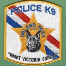 Orland Park Illinois Police K-9 Unit Patch