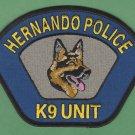 Hernando Mississippi Police K-9 Unit Patch