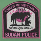 Sudan Texas Police Patch