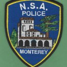 Monterey Naval Support Activity California Police Patch