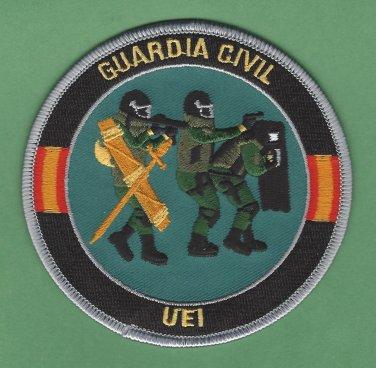 Spain Guardia Civil UEI SWAT Team Police Patch