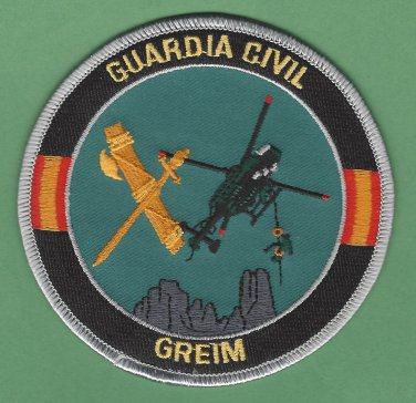 Spain Guardia Civil GREIM Mountain Rescue Team Police Patch