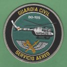 Spain Guardia Civil Servicio Aereo BO-105 Helicopter Police Patch