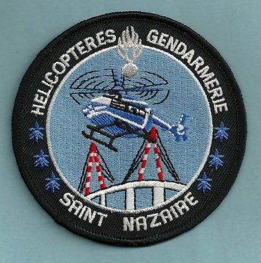 Saint Nazaire Gendarmerie Police Helicopter Unit Patch