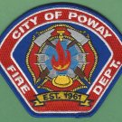 Poway California Fire Patch