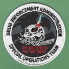 DEA Drug Enforcement Administration Special Operations Team Patch