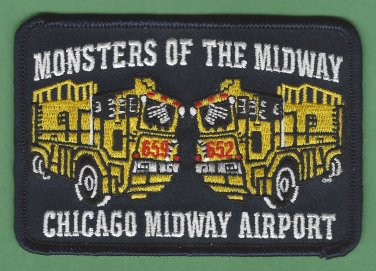 Chicago Midway Airport Fire Rescue Patch ARFF