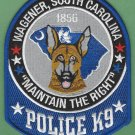 Wagener South Carolina Police K-9 Unit Patch