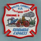 Baltimore County Fire Department Engine Company 9 Fire Patch