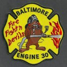 Baltimore City Fire Department Engine Company 30 Fire Patch
