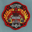 Baltimore City Fire Department Engine Company 6 Fire Patch