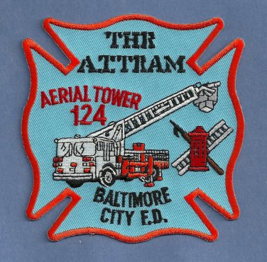 Baltimore City Fire Department Aerial Tower Company 124 Fire Patch