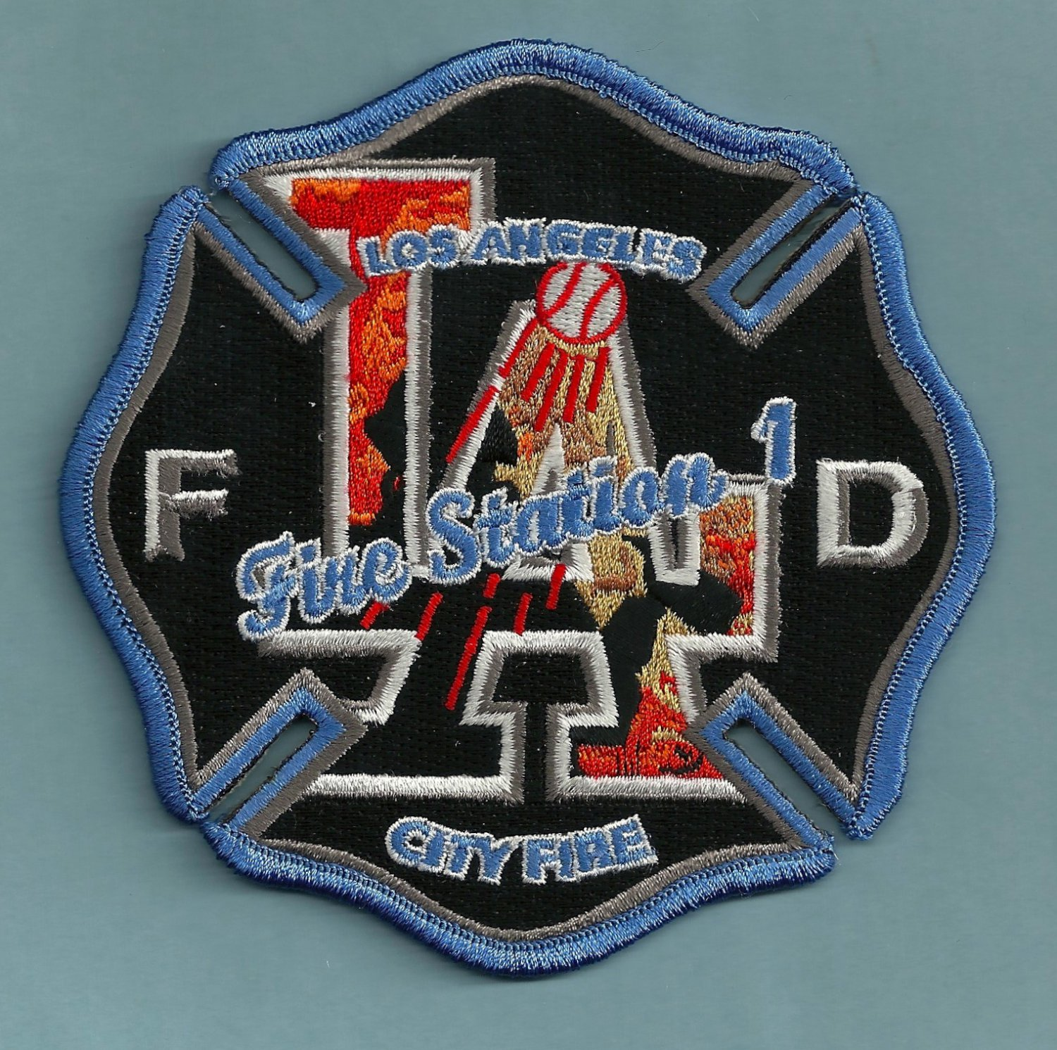 Los Angeles City Fire Department Station 1 Fire Company Patch
