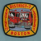Boston Fire Department Engine 17 Ladder 7 Fire Company Patch