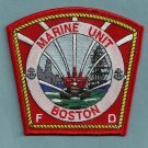 Boston Fire Department Marine 1 Fire Boat Patch