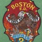 Boston Fire Department Rescue Company 2 Patch