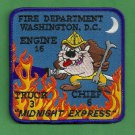 District of Columbia Fire Department Engine 16 Truck 3 Fire Company Patch