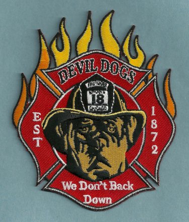 Chicago Fire Department Engine Company 18 Fire Patch