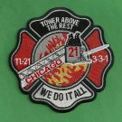 Chicago Fire Department Tower Ladder Company 21 Patch