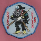 Chicago Fire Department Squad Company 5 Fire Patch