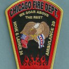 Chicago Fire Department Hook & Ladder Company 24 Patch