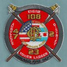 Chicago Fire Department Engine 108 Tower Ladder 23 Fire Company Patch