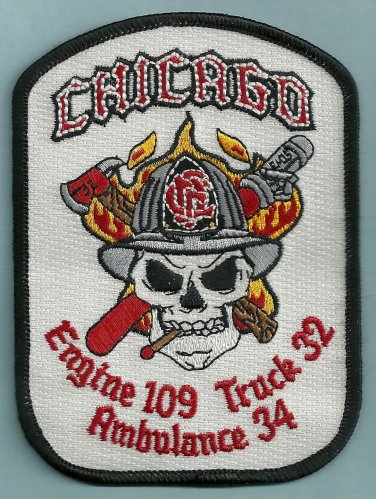 Chicago Fire Department Engine 109 Truck 32 Fire Company Patch