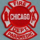 Chicago Fire Department Paramedic Fire Patch