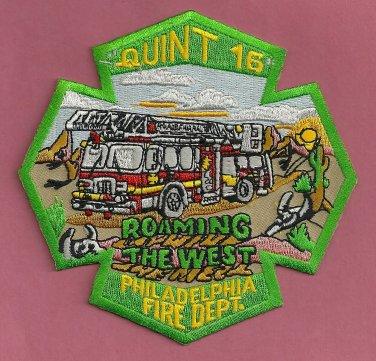Philadelphia Fire Department Quint Company 16 Patch