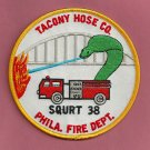 Philadelphia Fire Department Squirt Company 38 Patch