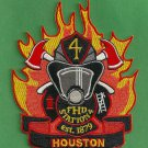 Houston Fire Department Station 4 Company Patch
