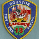 Houston Fire Department Station 13 Company Patch