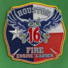 Houston Fire Department Station 16 Company Patch