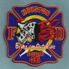Houston Fire Department Station 46 Company Patch