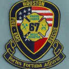Houston Fire Department Station 67 Company Patch