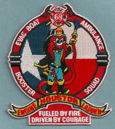 Houston Fire Department Station 68 Company Patch