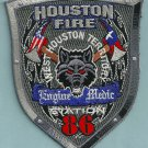 Houston Fire Department Engine 86 Medic 86 Company Patch