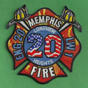 Memphis Fire Department Engine Company 20 Patch