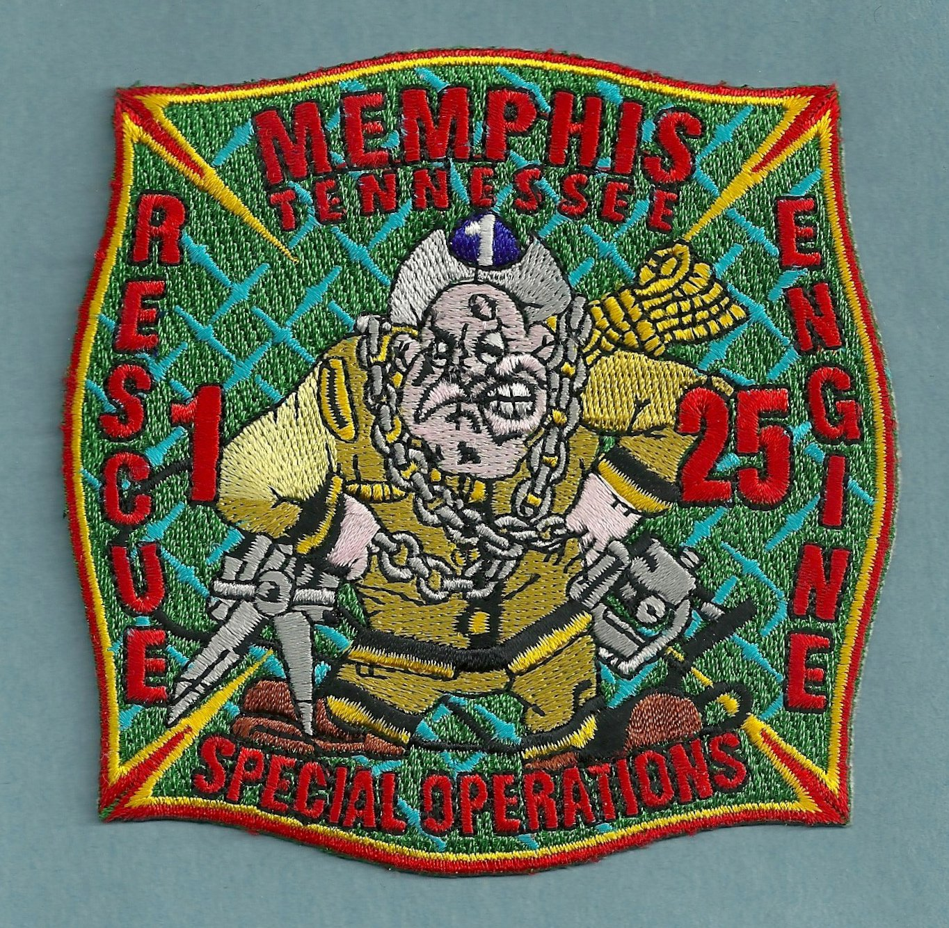 Memphis Fire Department Engine 25 Rescue 1 Company Patch