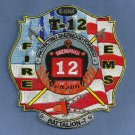 Memphis Fire Department Truck Company 12 Patch