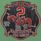 Manchester Fire Department Truck Company 2 Patch
