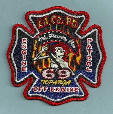 Los Angeles County Fire Department Engine 69 Patrol 69 Company Patch