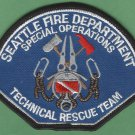 Seattle Washington Technical Rescue Team USAR Fire Patch