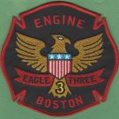 Boston Fire Department Engine Company 3 Fire Patch