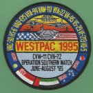 CVN-72 USS ABRAHAM LINCOLN 1995 WESTPAC PATCH