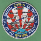CVW-5 25 YEARS IN JAPAN 1973-1998 ANNIVERSARY PATCH