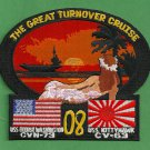 CV-63 USS KITTY HAWK CVN-73 USS GEORGE WASHINGTON GREAT TURNOVER CRUISE PATCH