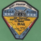 OPERATION DESERT STORM F-117A MILITARY AIRCRAFT PATCH